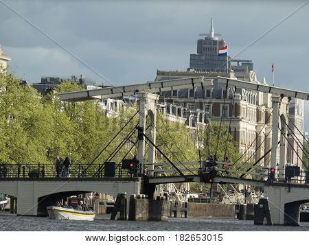 the nice City of Amsterdam in holland