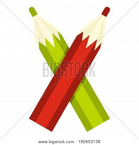 Pencils icon flat isolated on white background vector illustration