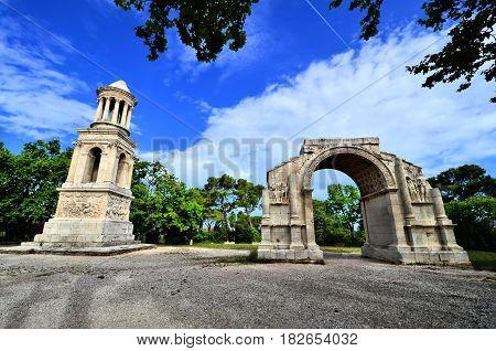 Ancient Roman ruins at Glanum, Saint Remy, Provence, France