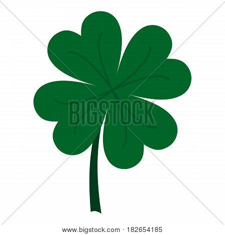 Four leaf clover icon flat isolated on white background vector illustration