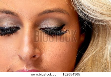 Woman eyes makeup