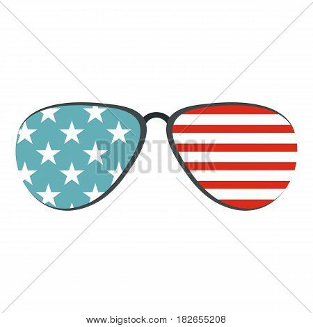 American glasses icon flat isolated on white background vector illustration