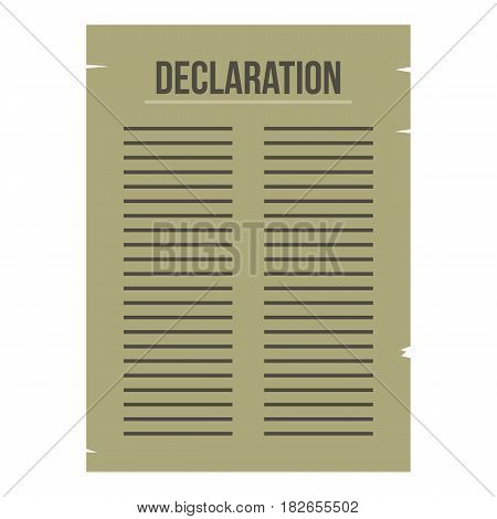 Declaration of Independence icon flat isolated on white background vector illustration
