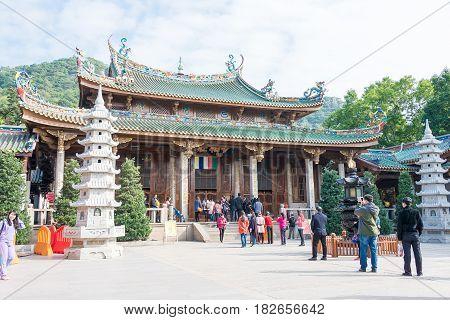Fujian, China - Jan 07 2016: South Putuo Temple(nanputuo Temple). A Famous Historic Site In Xiamen,