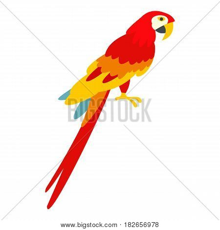 Scarlet macaws icon flat isolated on white background vector illustration