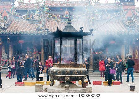Fujian, China - Dec 26 2015: Tonghuai Guan Yue Temple. A Famous Historic Site In Quanzhou, Fujian, C