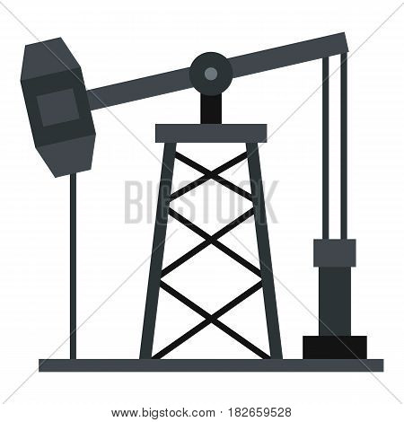 Oil pump icon flat isolated on white background vector illustration