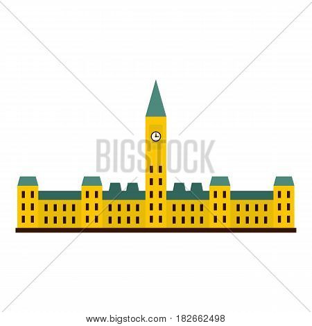 Parliament Hill, Ottawa icon flat isolated on white background vector illustration