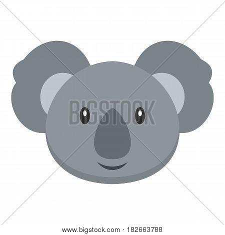 Koala icon flat isolated on white background vector illustration