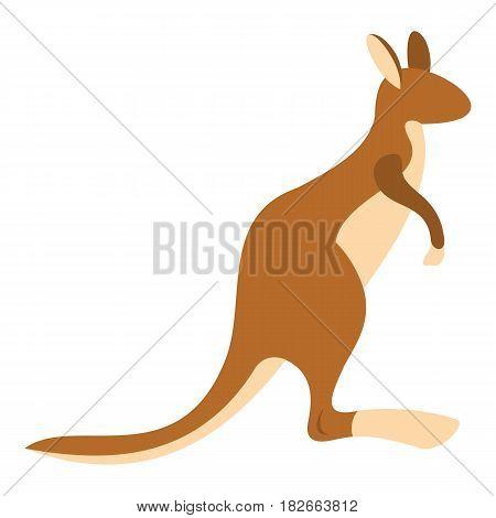 Kangaroo icon flat isolated on white background vector illustration