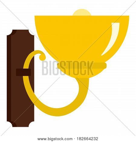 Wall lamp icon flat isolated on white background vector illustration