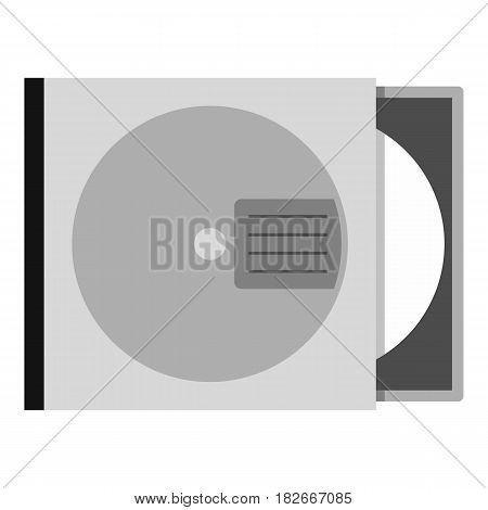 CD or DVD case icon flat isolated on white background vector illustration