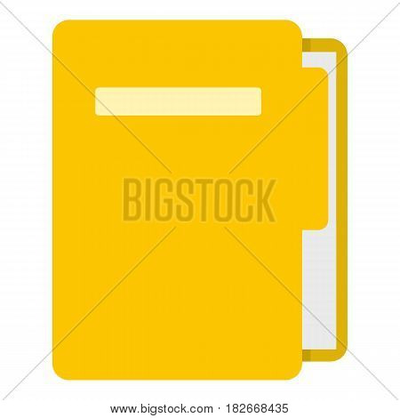 Yellow file folder icon flat isolated on white background vector illustration