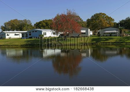 Community of mobile homes located in Florida Tampa