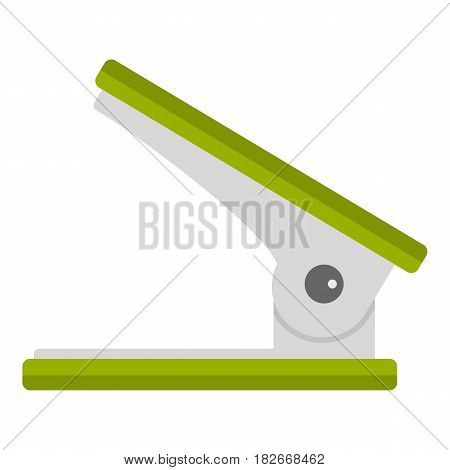 Green office hole punch icon flat isolated on white background vector illustration