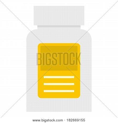 Pharmaceuticals bottle icon flat isolated on white background vector illustration
