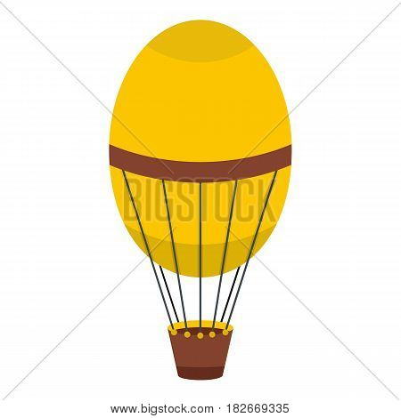 Retro hot air balloon icon flat isolated on white background vector illustration
