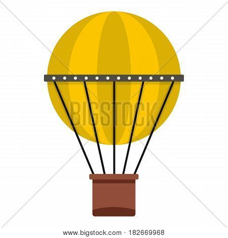Air balloon journey icon flat isolated on white background vector illustration
