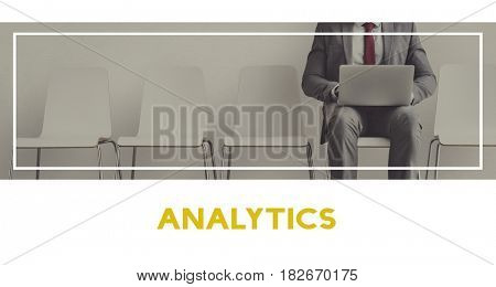 Businessman using laptop analysis data investment