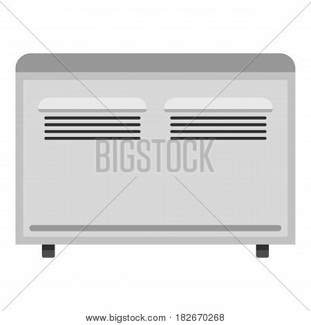 White heating convector icon flat isolated on white background vector illustration