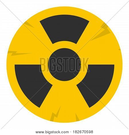 Nuclear sign icon flat isolated on white background vector illustration