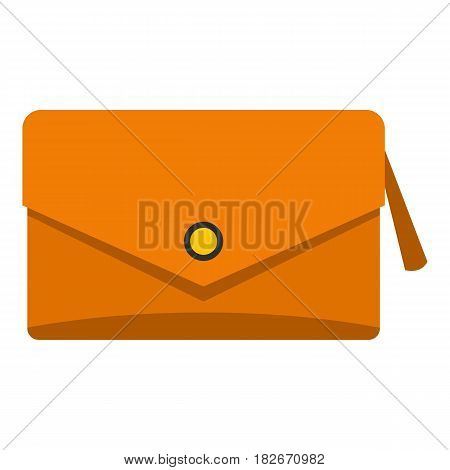 Small bag icon flat isolated on white background vector illustration