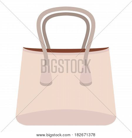 Small woman bag icon flat isolated on white background vector illustration