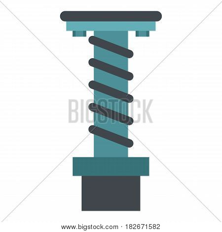 Spiral tool icon flat isolated on white background vector illustration
