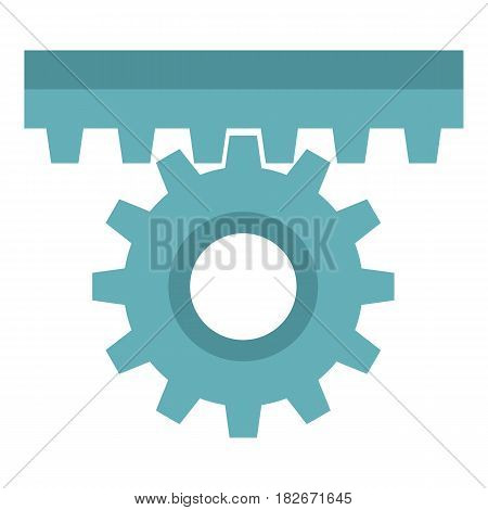 One gear icon flat isolated on white background vector illustration