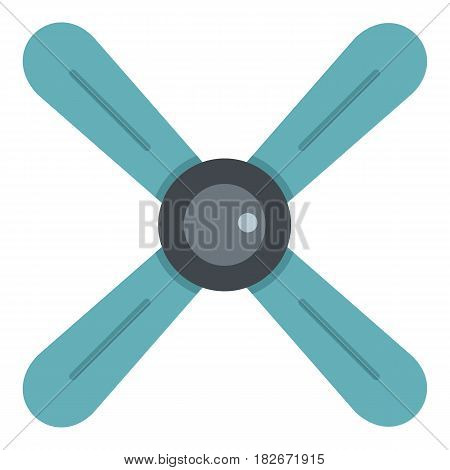 Propeller icon flat isolated on white background vector illustration