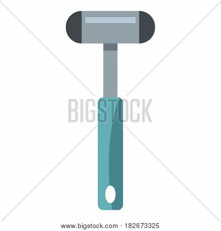 Reflex hammer icon flat isolated on white background vector illustration