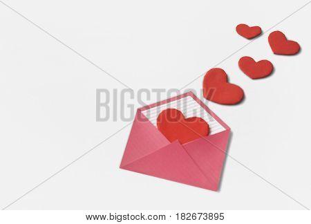 Love Letter Hearts Romance