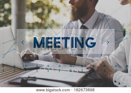 Business Talk Meeting Company Organization Graphic