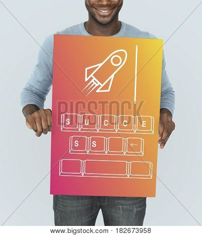 Rocket Spaceship Start up Business Strategy Graphic