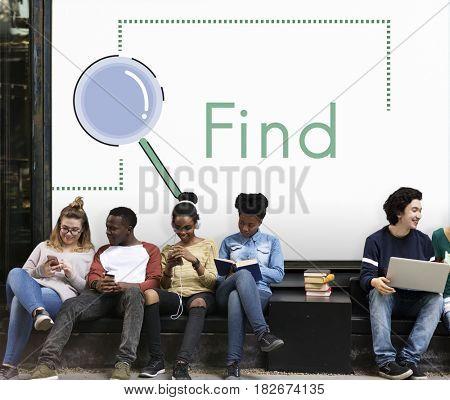 Recruitment Job Occupation Search Concept