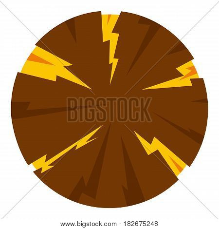 Dangerous planet icon flat isolated on white background vector illustration