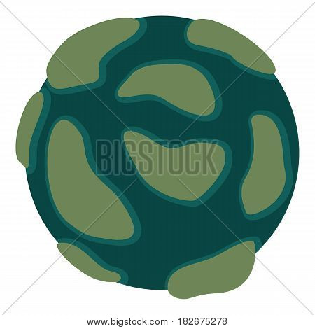 Beautiful planet icon flat isolated on white background vector illustration