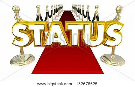 Status Elite Rich Famous Exclusive Glamorous Red Carpet Entrance 3D Illustration