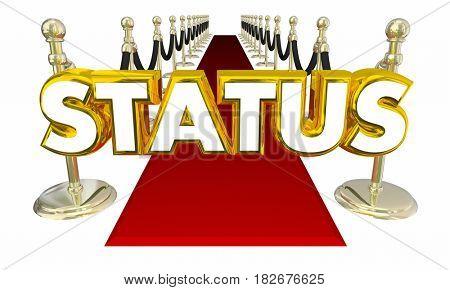 Status Elite Rich Famous Exclusive Glamorous Red Carpet Entrance 3D Illustration