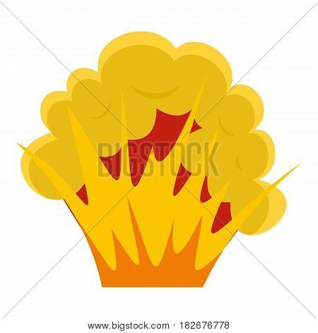 Flame and smoke icon flat isolated on white background vector illustration