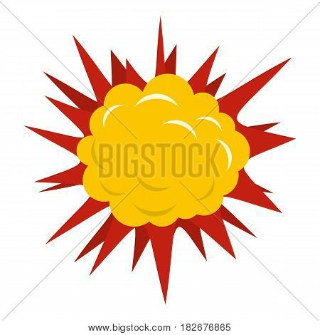 Terrible explosion icon flat isolated on white background vector illustration