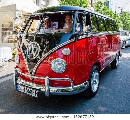 BERLIN - JUNE 05 2016: Light commercial vehicle Volkswagen Type 2. Classic Days Berlin 2016.
