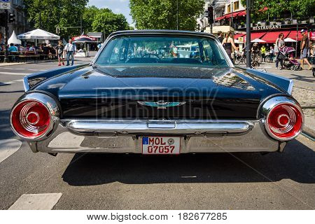 BERLIN - JUNE 05 2016: Personal luxury car Ford Thunderbird (third generation). Lowrider. Rear view. Classic Days Berlin 2016.