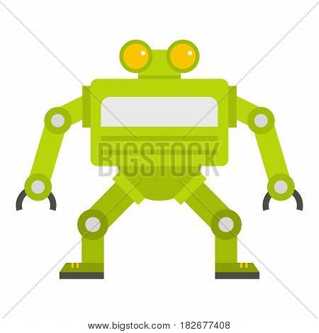 Green automatic mechanism icon flat isolated on white background vector illustration