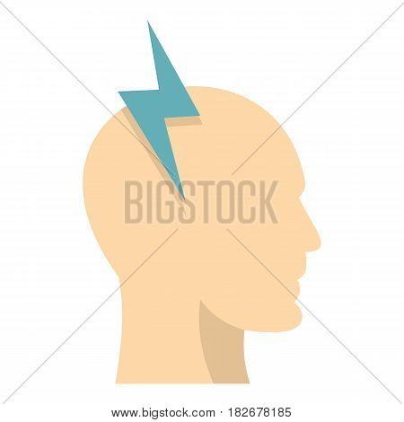 Brainstorming icon flat isolated on white background vector illustration