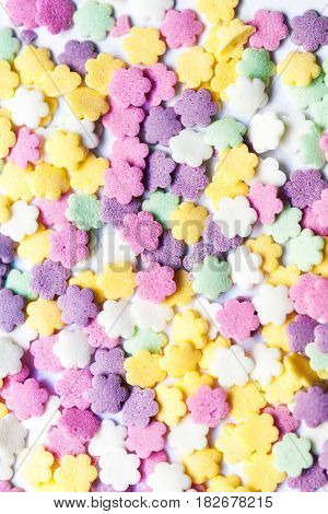 Sweet color candy - colorful sprinkles candies background