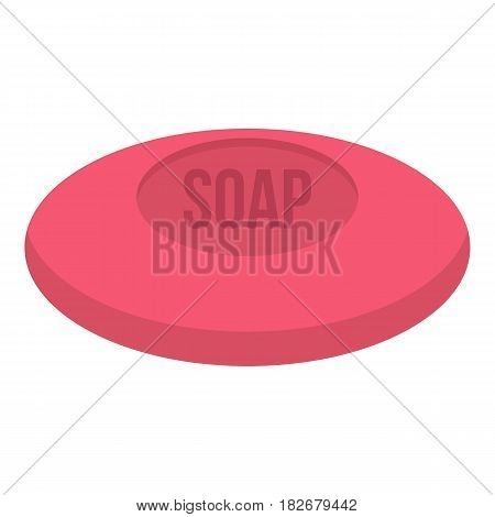Pink soap icon flat isolated on white background vector illustration