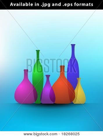 Still Life Color Bottles