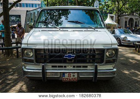 BERLIN - JUNE 05 2016: Full-size van Chevrolet Van (Third generation). Classic Days Berlin 2016.
