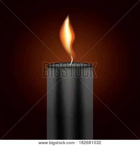 Black Candle Flame.